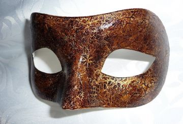 Genuine Venetian Designer  Leather Look Mask (2) (1)